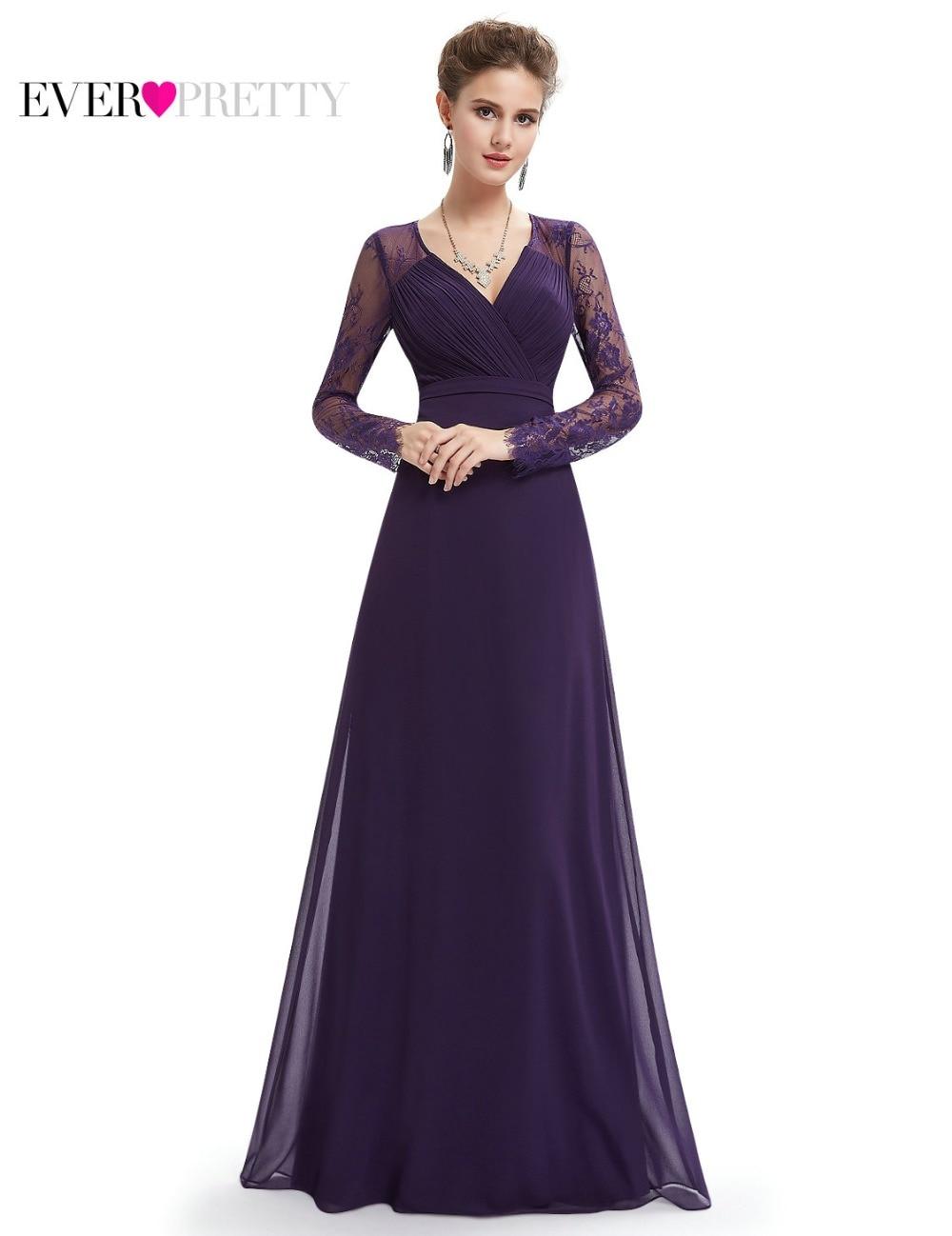 Formal Evening Dresses Ever Pretty EP08692 Women\'s Autumn Elegant V ...