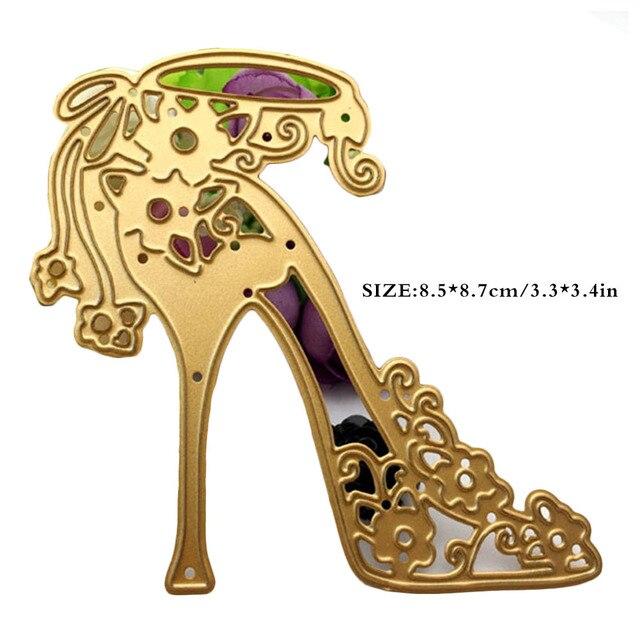 Golden fine high heels die cutsmetal cutting dies in scrapbooking golden fine high heels die cutsmetal cutting dies in scrapbooking embossing folder diy card maxwellsz