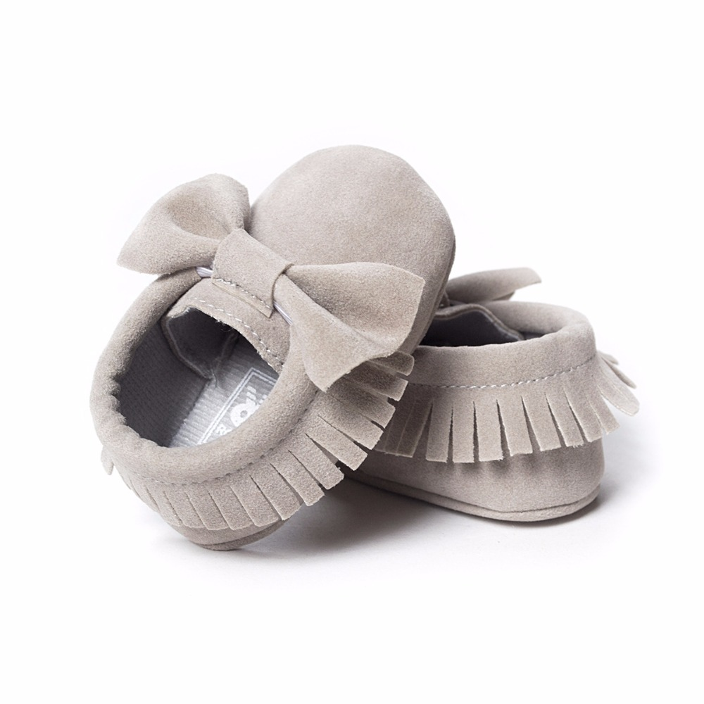 Solid Newborn Shoes Fringe Brown Baby Bouys First Walkers Children Prewalker Girls Shoe Soft Infant Moccasin Socks Soft