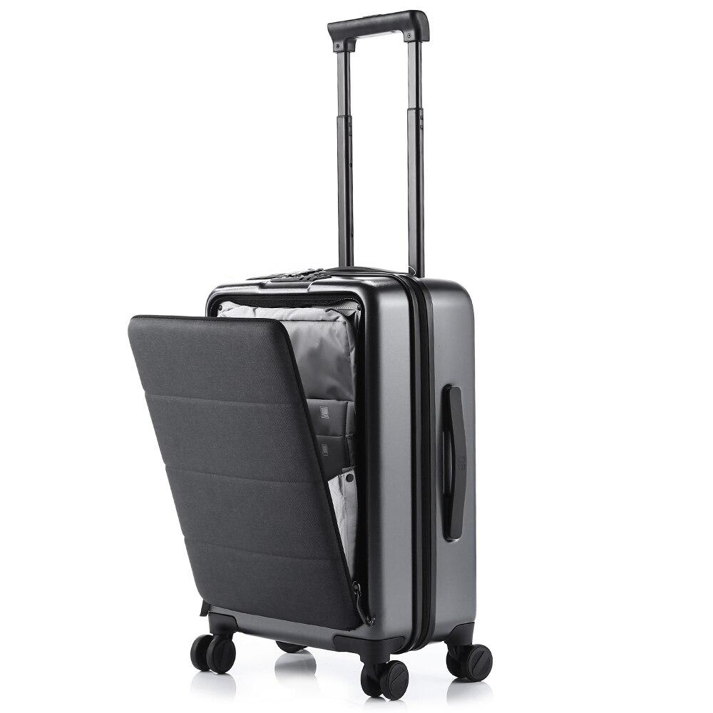 90fun 20 rolling rolling rolamento hardside carry-ons bagagem abertura cabine mala de viagem roda girador scratch-proof alça ajustável