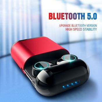 True TWS Cordless Earbuds Wireless Sport Earphones Stereo In-Ear Headsets with Charging Box Bluetooth 5.0 Earphones