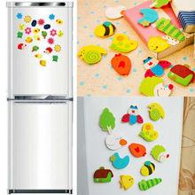 Милые случайные животные 12 шт наклейки на холодильник домашний декор держатель сообщений стеклянная наклейка