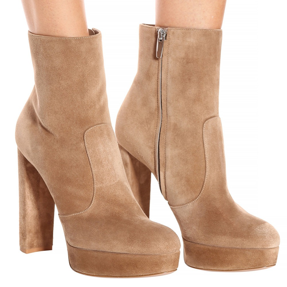 Plus size 46 Women <font><b>Sexy</b></font> Dance Nightclub Party Shoes <font><b>Extreme</b></font> <font><b>High</b></font> <font><b>Heel</b></font> Platform Women Ankle <font><b>Boots</b></font> <font><b>Boots</b></font> Winter Shoes image