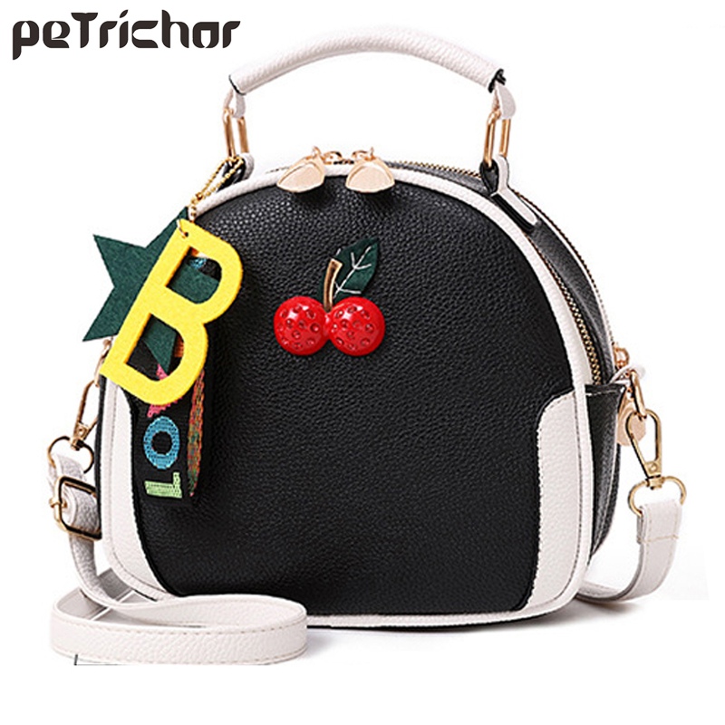 Petrichor New Shoulder Bag Women Designer Cute Handbags Female PU Leather Messenger Crossbody Tote Bag For Ladies Purse Bolsa cute pencil shape and pu leather design crossbody bag for women