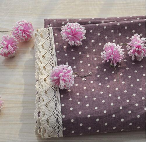 New Style Cotton Linen Table Cloth / Pink Purple Blue Green Four Colors Summer Lace Tablecloth on the Table