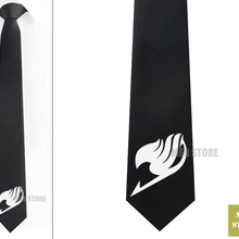 """Аниме Сказочный хвост символ Мужской Жаккардовый тканый тонкий узкий галстук 2,"""" 6 см Галстук Свадебная вечеринка галстук для жениха запонки LK040M"""