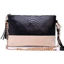 Free shipping Genuine leather Tassel handbags shoulder bags messenger bag Day clutch Chain bag small bag women's clutches D197