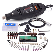 Фотография Dremel Style Electric Drill Rotary Tool Variable Speed Mini Drill with Flexible Shaft and 100pcs Dremel Accessories Power Tools