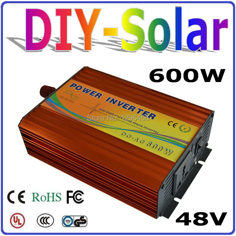 цена на solar system 600w 48v inverter, factory wholesale pure sine wave off grid inverter 600w, UL TUV CE RoHS FC Approved