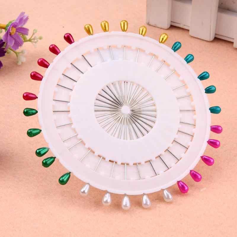 30 Pcs/set Warna-warni Pin Pearl Kepala Mengalungkannya Pins Pernikahan Korsase Jahit untuk DIY Perhiasan untuk DIY Kerajinan Aksesori