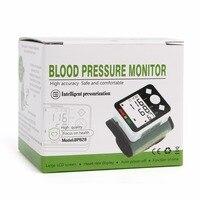 손목 혈압 모니터 LCD 디지털 미터 커프 측정 안압계 개인 건강 혈액 심장