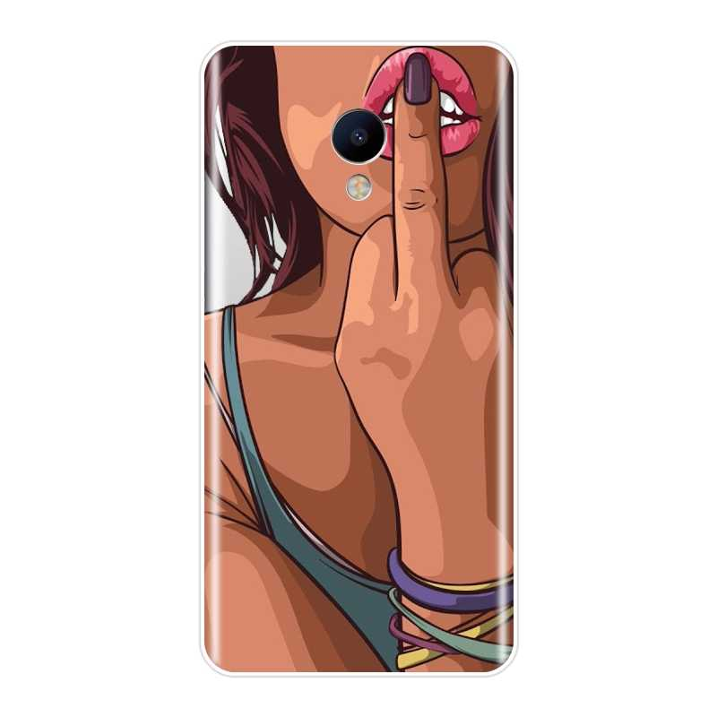 Tpu Voor Meizu M2 M3 M3S M5 M5C M5S M6 M6S M6T Telefoon Case Silicone Black Hot Sexy Girl Soft back Cover Voor Meizu M2 M3 M5 M6 Note