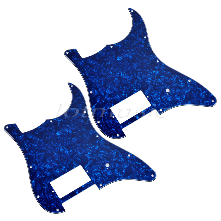 2Pcs 3ply Blue Pearl Guitar Pickguard With One Humbucker for Electric Guitar Replacement крокус blue pearl geolia