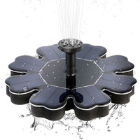 Brushless Water Fountain Floating Solar Fountain Garden Water Pump180 L/H Bird Bath Pond Garden Decor 4 Nozzles Waterproof 8V