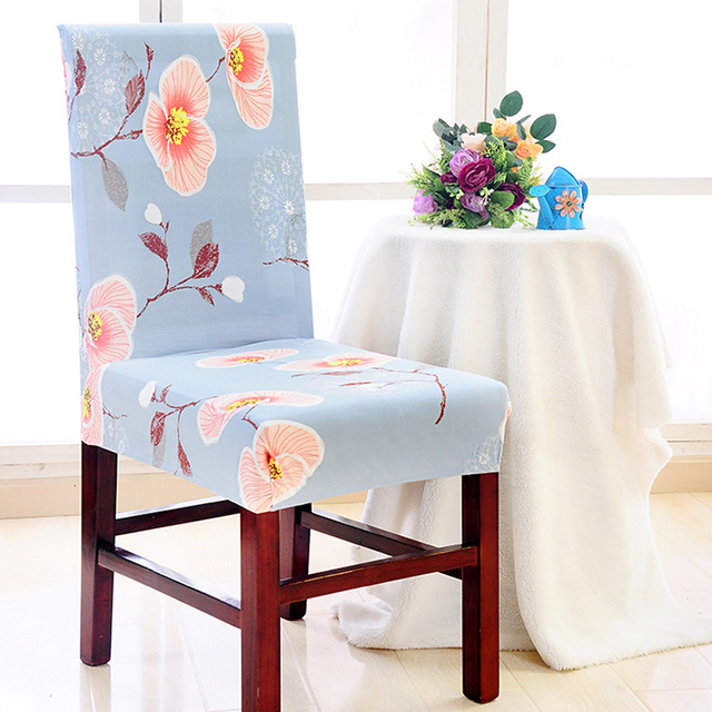 1 Piece Home Decor Floral Print Flower Home Dining Chair Cover