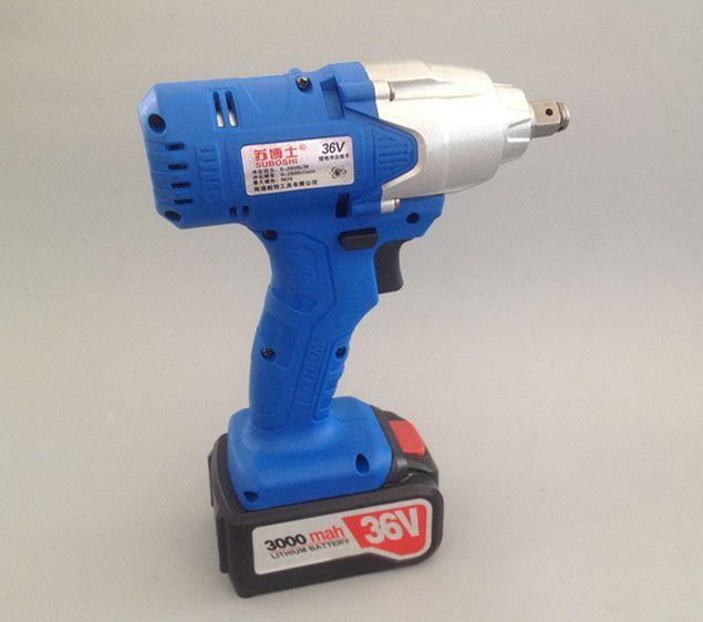 فروش گرم 36v 3000mah آچار برقی با دو باتری و یک شارژر