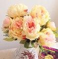 Новые Поступления 45 см Legnth 7 шт. Цветок Heads Пион Свадебный Букет Свадебный Centerpiece Украшения Дома Искусственный Цветок