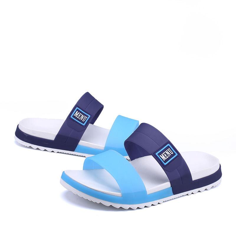 LAISUMK Summer Beach Men Slippers Casual Shoes Double Buckle Man Slip on Flip Flops Flats Camouflage Flip Flop Indoor & Outdoor 82