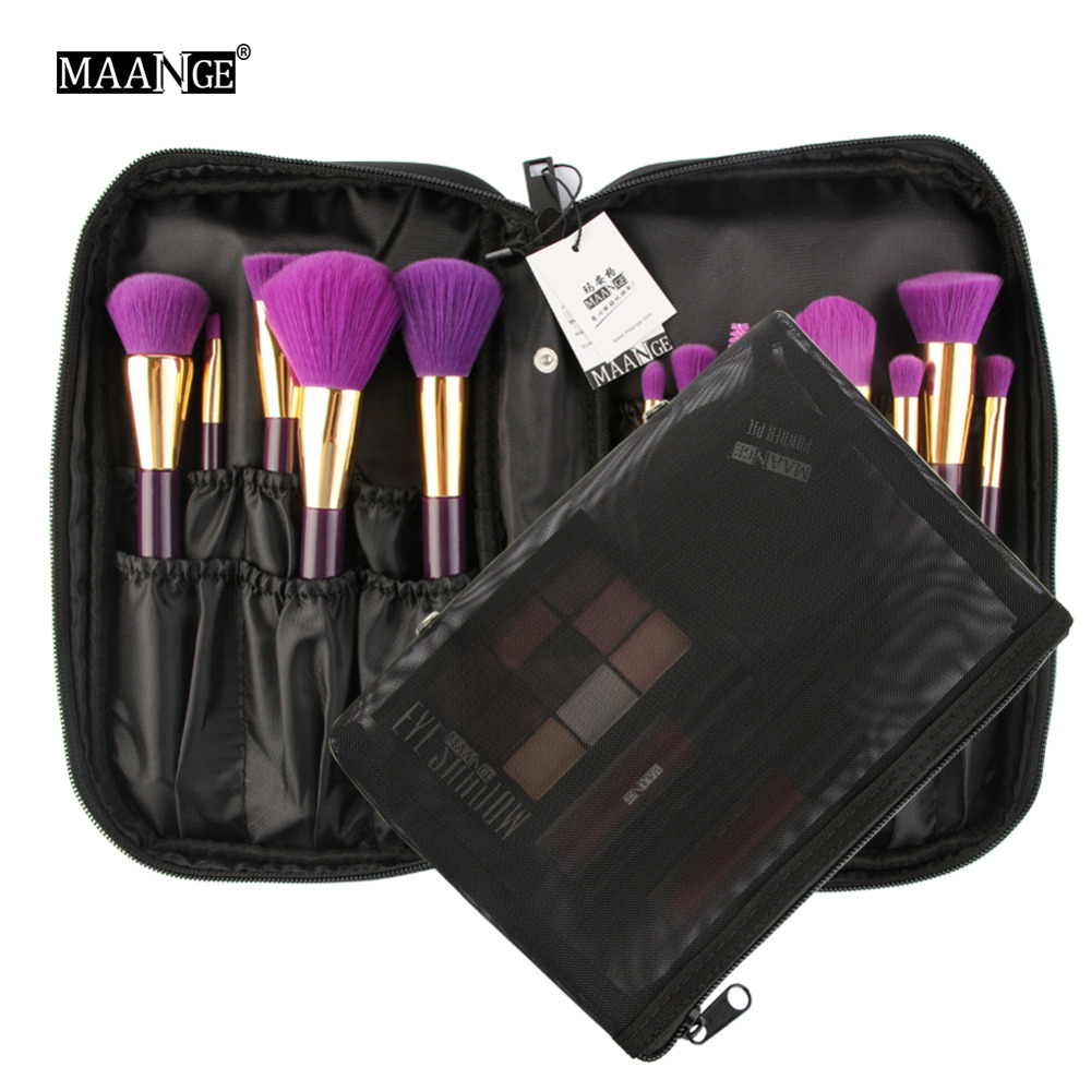 MAANGE Cosmetic Bags Makeup Brushes Bag Women Travel Organizer Professional Storage Brush Make Up Case Beauty Toiletry Bag lady s travel wash cosmetic bags brushes lipstick makeup case pouch toiletry beauty organizer accessories supplies products