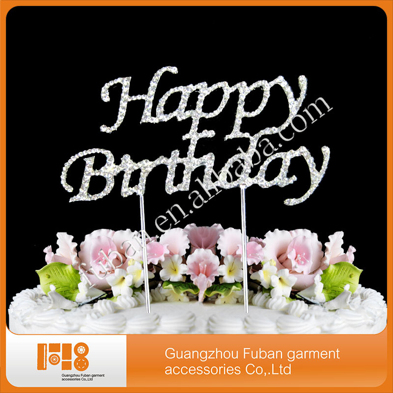 40 Pieceslotbling Rhinestone Happy Birthday Cake Topper For Cake