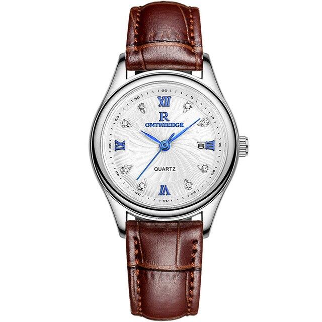 Новый Водонепроницаемый бизнес кожаный ремень кварцевые часы женские Наручные Часы Relogio feminino Брендовые женские Женева cl