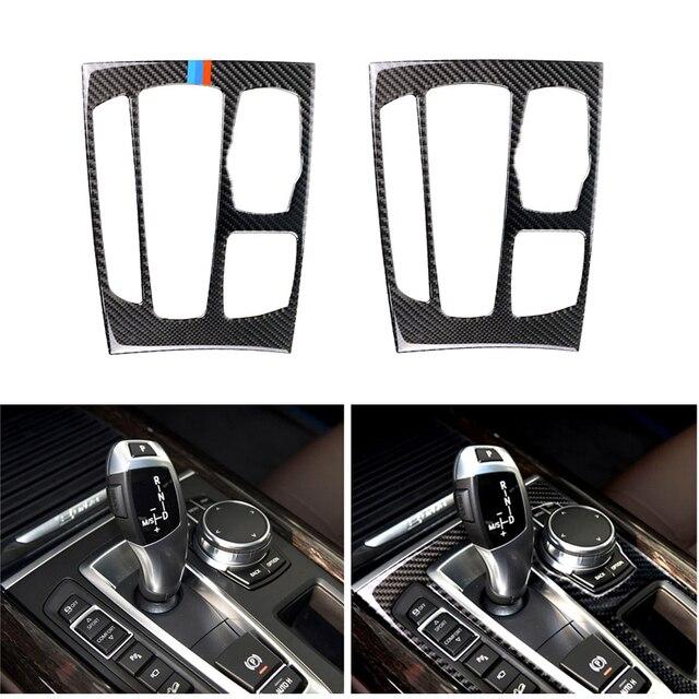 Автомобильный Стайлинг карбоновое волокно переключения передач Панель рамка Накладка для BMW X5 X6 F15 F16 2014 2015 2016 2017