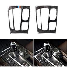 Auto Styling Carbon Fiber Getriebe Shift Panel Rahmen Abdeckung Trim Für BMW X5 X6 F15 F16 2014 2015 2016 2017