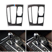 Auto Styling Koolstofvezel Versnellingspook Panel Frame Cover Trim Voor Bmw X5 X6 F15 F16 2014 2015 2016 2017