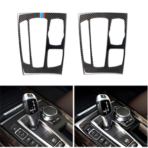 Image 1 - Car Styling Carbon Fiber Gear Shift Panel Frame Cover Trim For BMW X5 X6 F15 F16 2014 2015 2016 2017