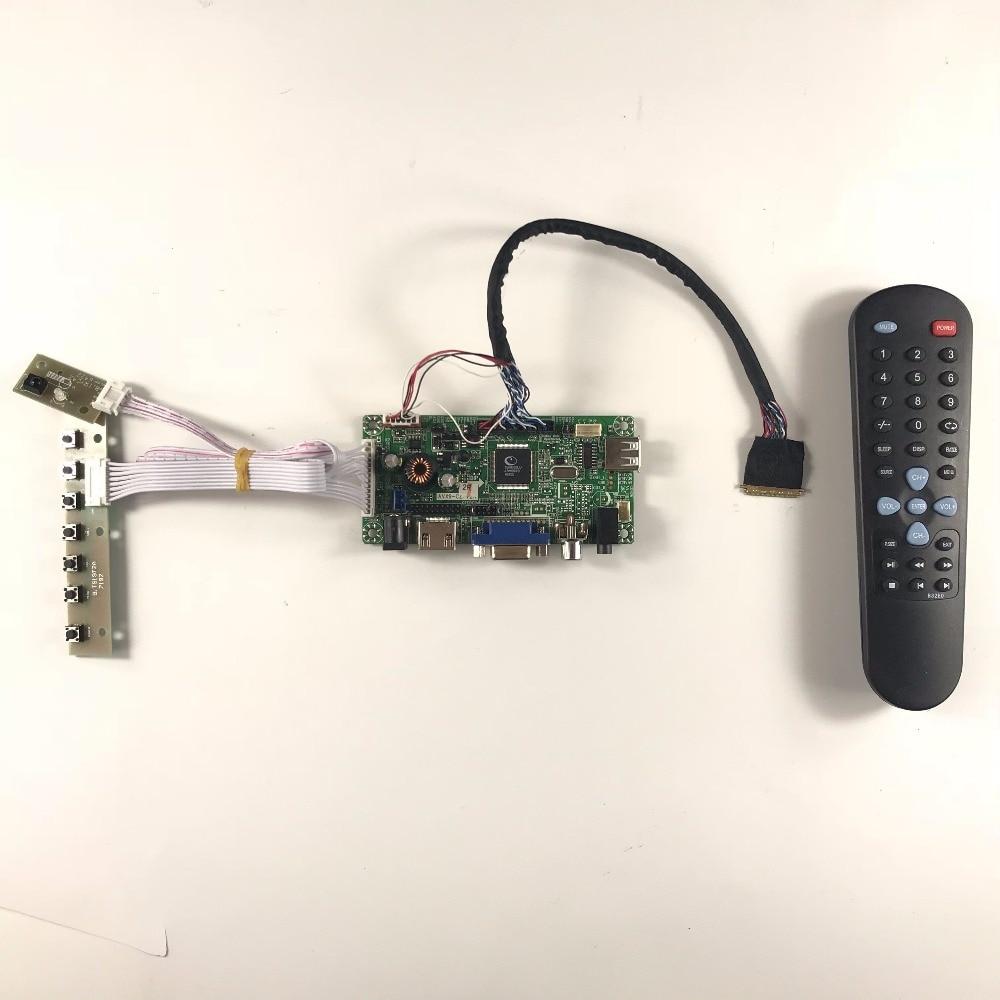 цены Free shipping VGA HDMI AV LCD Controller Board HDMI AV for 17.3 inch 1920x1080 HSD173PUW1 WLED LVDS LCD driver board AV HDMI AUD