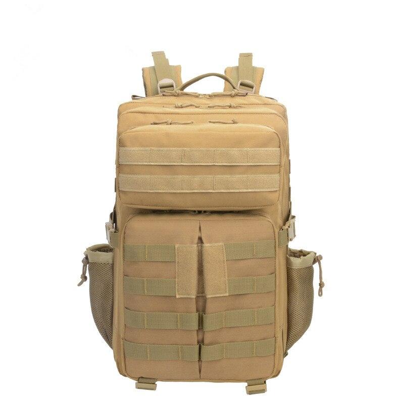Plein air alpinisme chasse sport sac à dos tactique camouflage sac camping randonnée solide couleur multi-fonction grande capacité