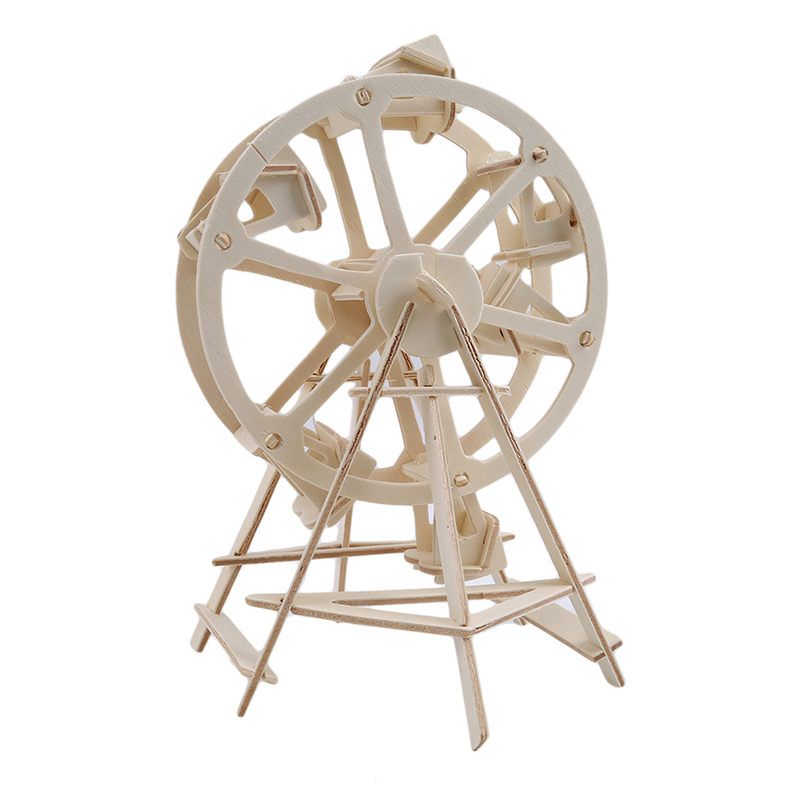 3D Wooden Model Puzzles New Assembly DIY Education Toy Of Ferris Wheel
