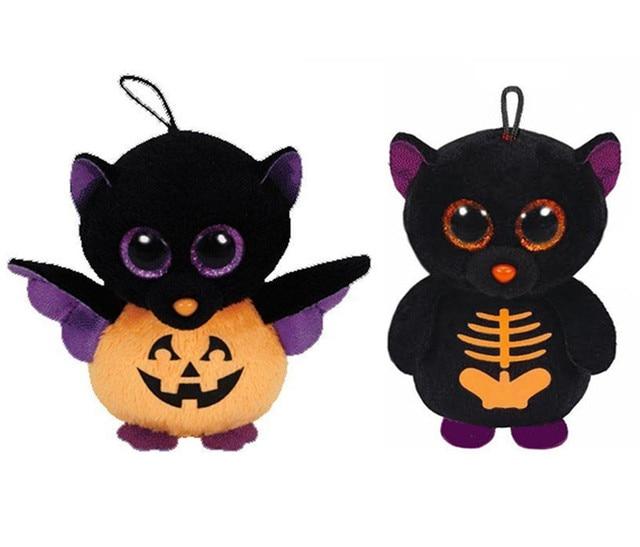 b1233af160c Ty Beanie Boos Halloween Fangs Batty Bat Plush Animals Mini 8cm Cute  Stuffed Animal Big Eyes Keychains Pendant Kids Toys