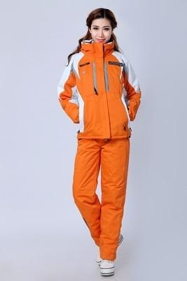 Лыжный костюм комплект для влюбленных уличная Водонепроницаемая тепловой утолщение холодной доказательство лыжный костюм
