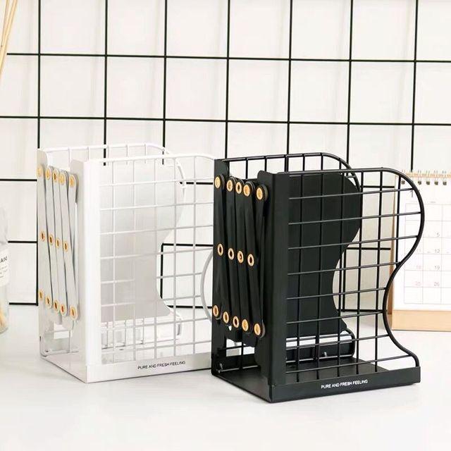 1PC Creative Rabbit Cat Grid Metal Adjustable Reading Book Bookends Stand Holder Bookshelf Document Magazine Organizer Holder