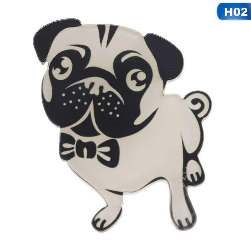 Милые домашние собаки кулон значок шпильки мультфильм Щенок Хаски корги Броши с бульдогами для женщин Джинсовый Рюкзак эмаль булавки ювелирные изделия подарок