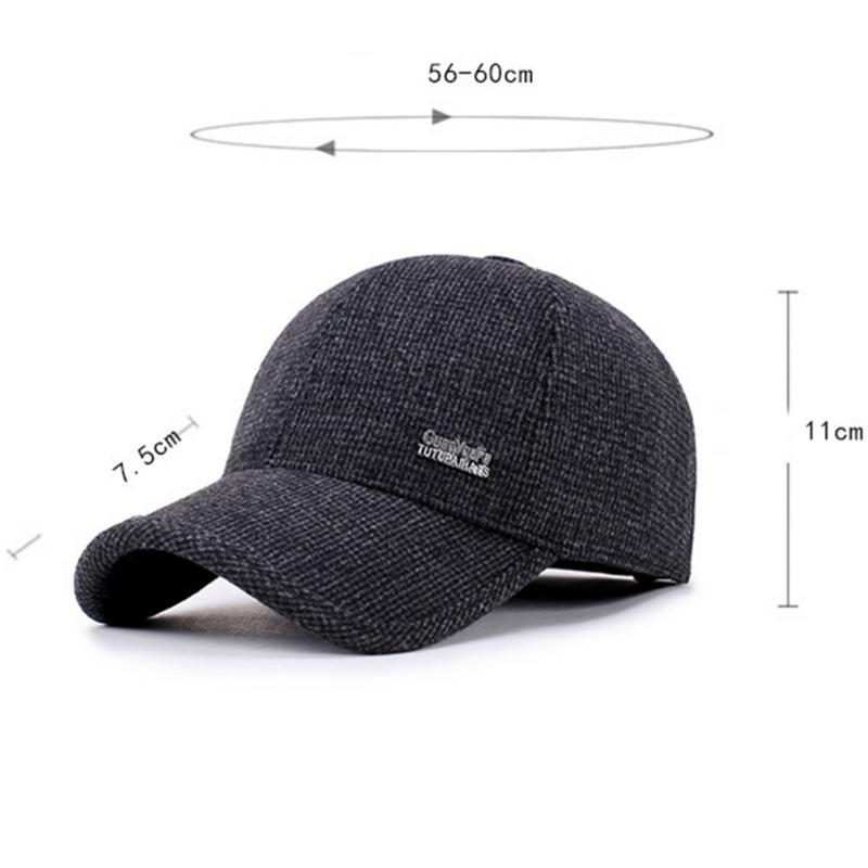 Mediana edad y sombrero de Invierno Caliente orejeras gorra de ...