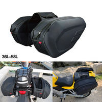 New Motorcycle Waterproof Tail Luggage Suitcase Saddle Bag Motorcycle Side Helmet Riding Travel Bags With Rain Cover