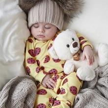 купить 2019 new Baby Rompers Chocolate biscuit Print Cotton Newborn autumn Boys Girls Clothes Infant Baby Clothing Long Sleeve Jumpsuit по цене 734.56 рублей