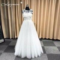 New White A Line Wedding Dress Butterflies Appliques Bridal Gown Floor Length See Throug Wedding Party Gown vestido de noiva