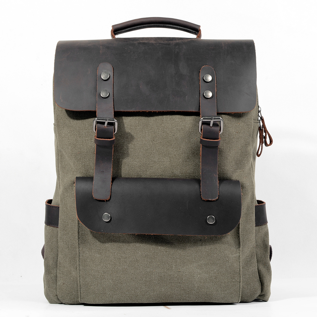 High Quality [Canvas + Real Cowhide Leather] Luxury Women Men Backpack Travel School Bags Large Capacity Laptop Daypack BookbagHigh Quality [Canvas + Real Cowhide Leather] Luxury Women Men Backpack Travel School Bags Large Capacity Laptop Daypack Bookbag