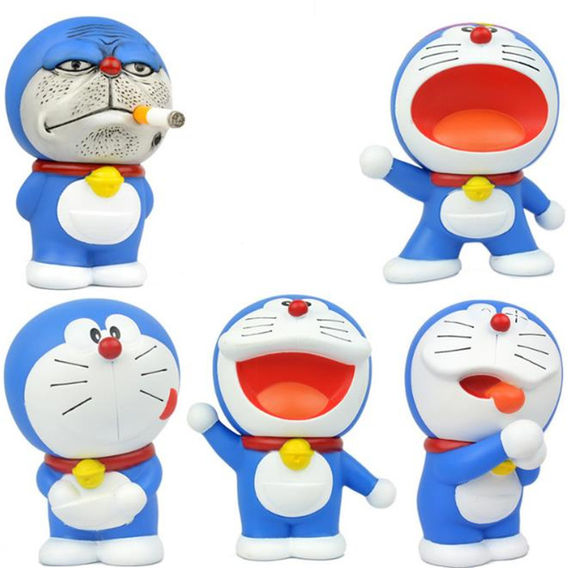 Doraemon Automobile ornament interior handle toy PVC material is high about 10cm Hand to do model New hot sale
