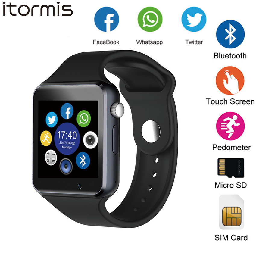 ITORMIS Smart phone watch Bluetooth Watch Smart SIM Card Watch with Camera Passometer WhatsApp Facebook Twitter for Android iOS