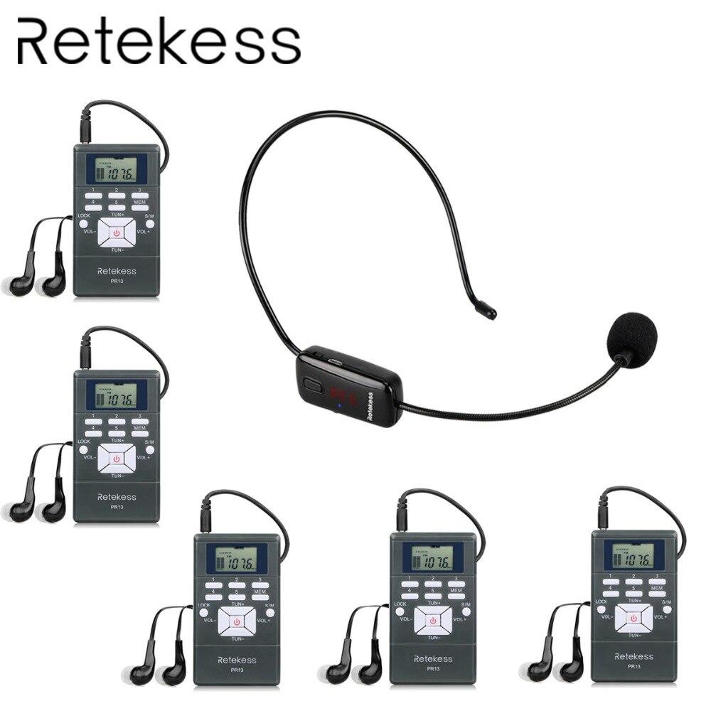 RETEKESS беспроводной гид системы аудио микрофон FM Assistive прослушивания для обучения церкви завод проведение экскурсий