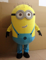 In stock Cheap minion mascot costume adults size for kids party