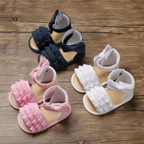 Kids Toddler Baby Girl Sandals Floral Bowknot Party Princess Sandles 2019 New Summer Soft Sole Beach Shoes