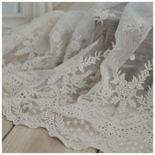 Free Shipping 23cm 9inch 1yards/lot white lace fabric garment decoration trimming Z951
