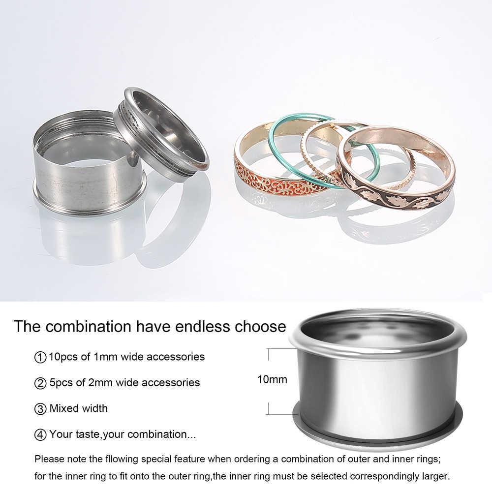 Cremo кольцо из нержавеющей стали в стиле бохо для женщин, Винтажное кольцо-Спиннер, стекируемые кольца из розового золота, сменные обручальные кольца