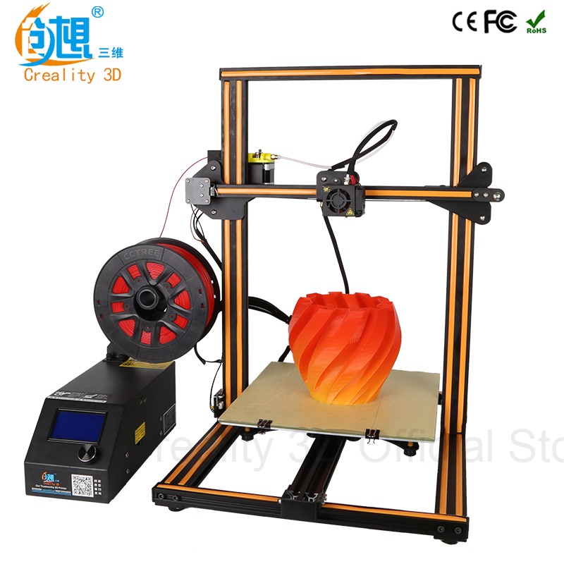 CREALITY 3D impresora CR-10 y Cr-10S opcional 3D impresora kits de alta calidad escritorio CNC Full Metal 3d impresora con filamentos regalo