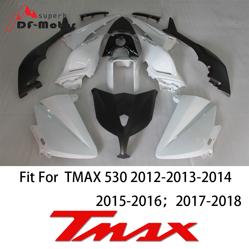 Tmax530 Fairing Kit Bodywork Bolts for Yamaha Tmax 530 2012 2013 2014 2015 2016 2017 Tmax Fairing ABS Plastic Injection white in Full Fairing Kits from Automobiles Motorcycles